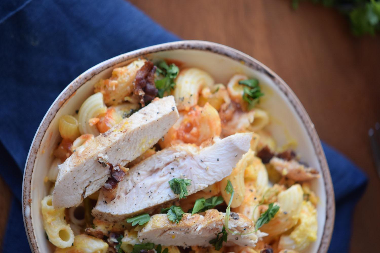 Smoky Chicken Enchilada Pasta