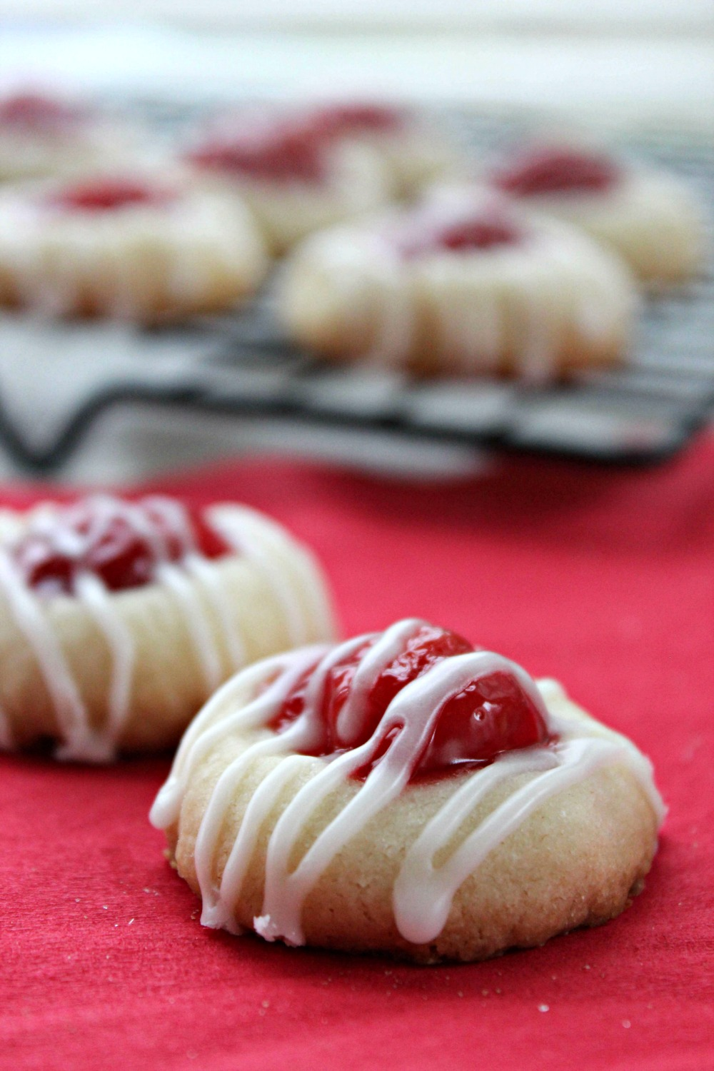 Cherry Thumbprint Cookies Recipe