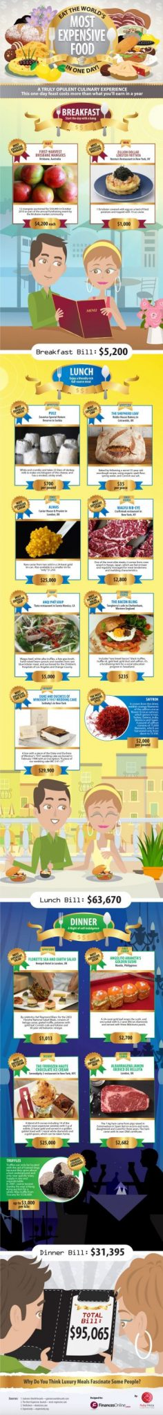Worlds Most Expensive Food Infographic