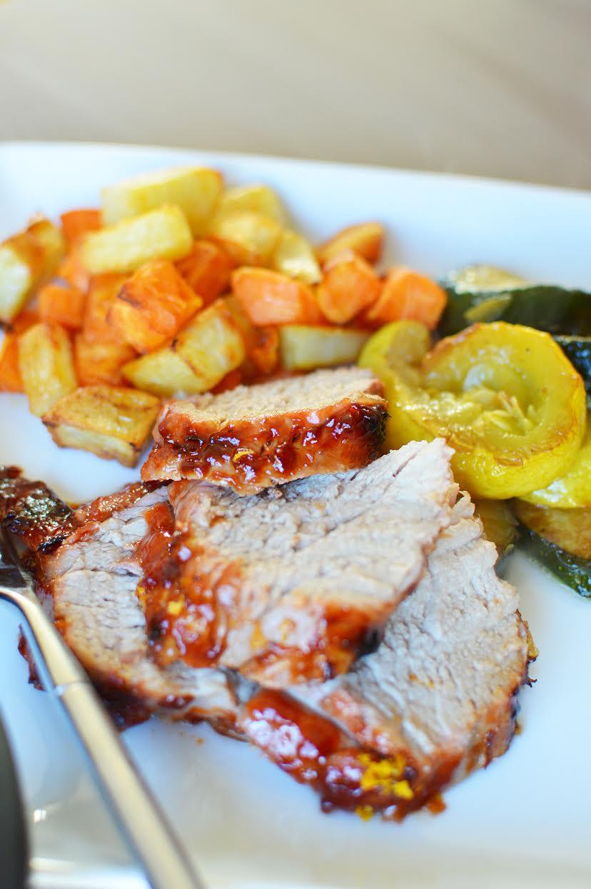 Citrus Glazed Rotisserie Pork Recipe   Foodie Father