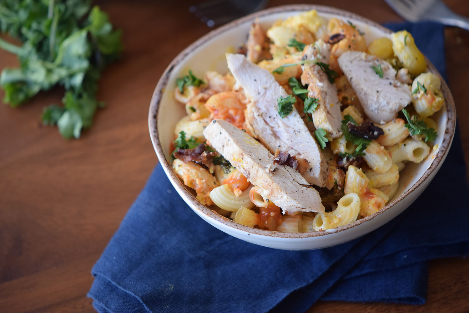 Smoky Chicken Enchilada Pasta