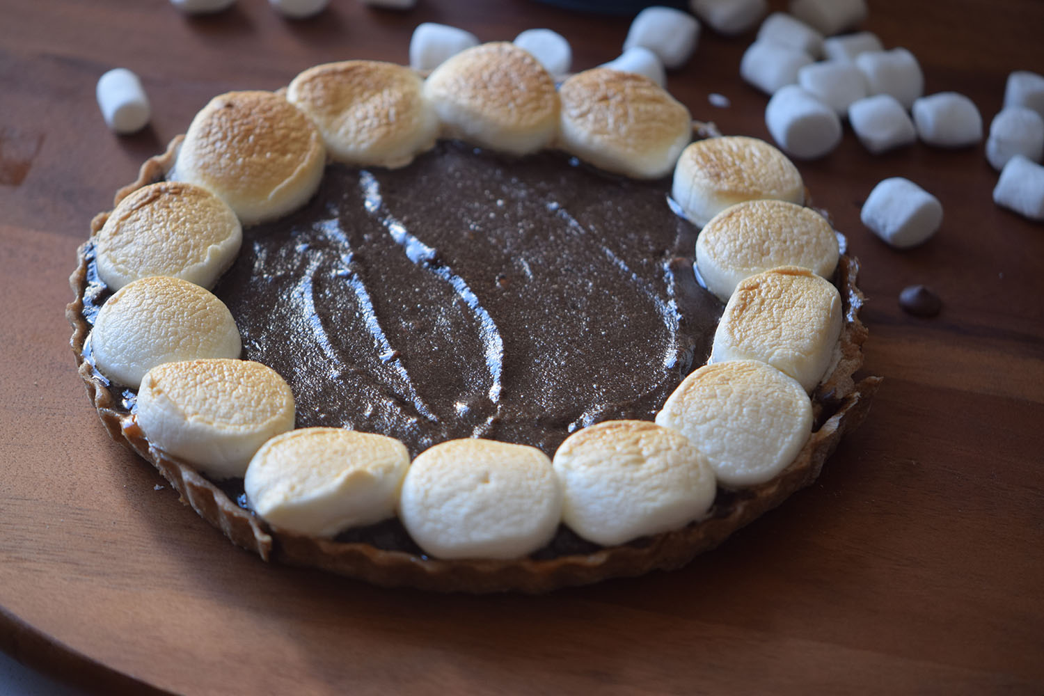 Grilled S'mores Pie Recipe