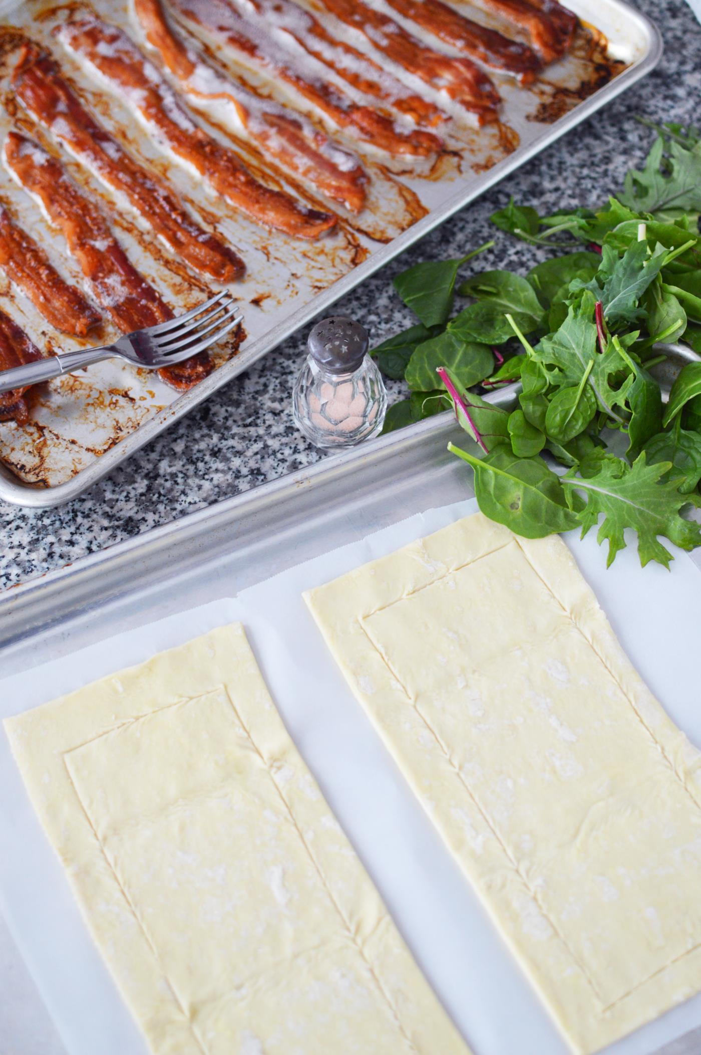 Savory Bacon Puff Pastry