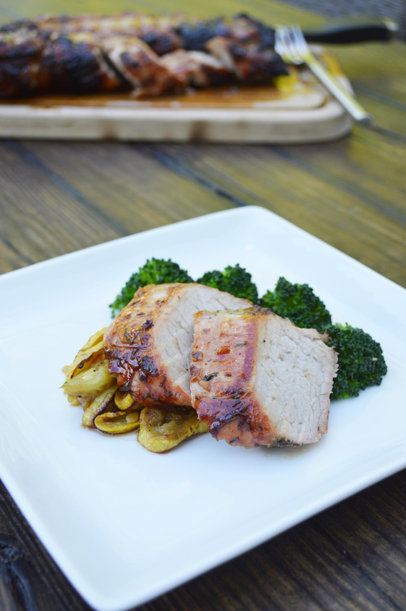 Pork loin rotisserie recipe