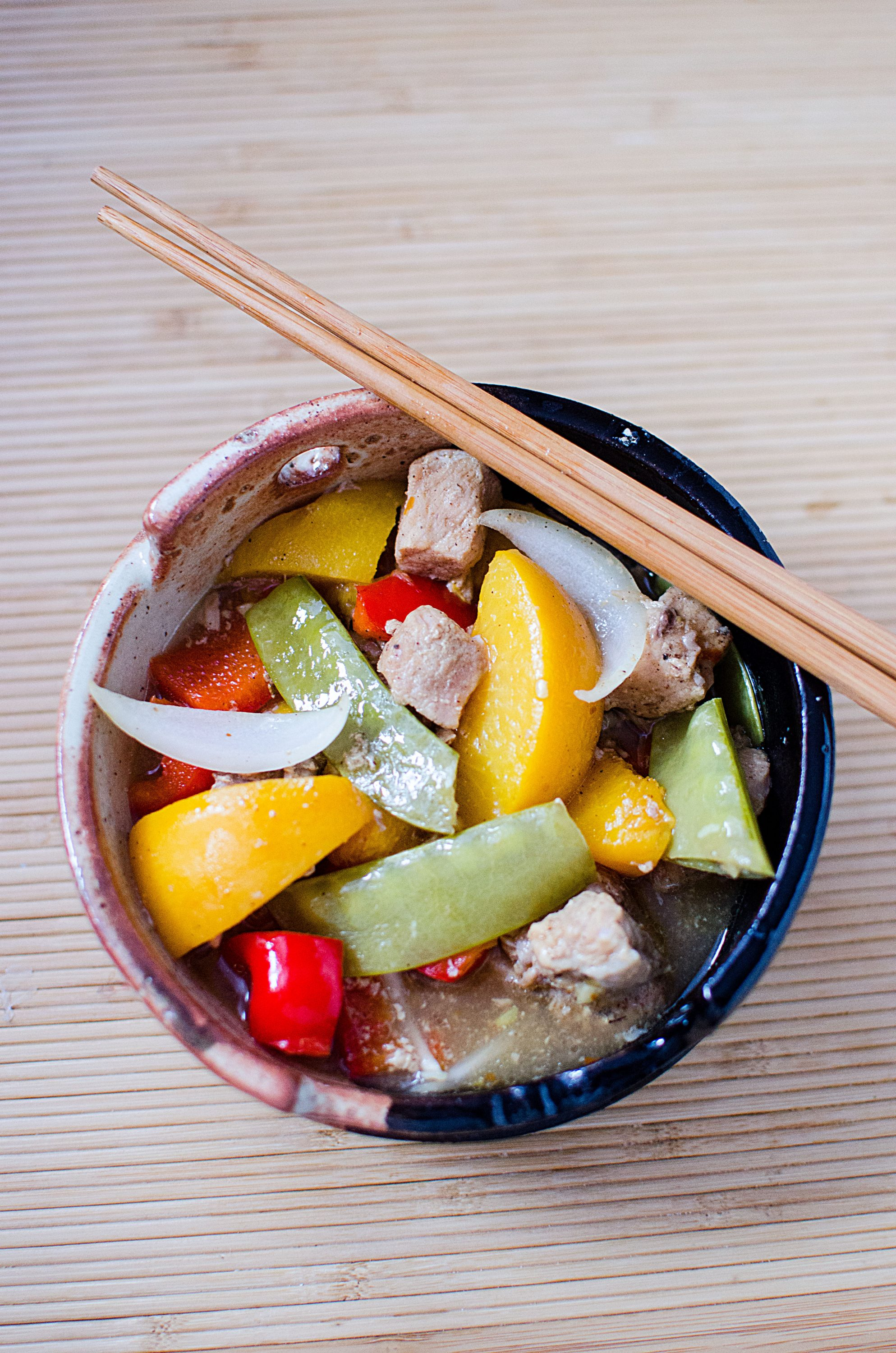 Slow Cooker Ginger Peach Pork Recipe