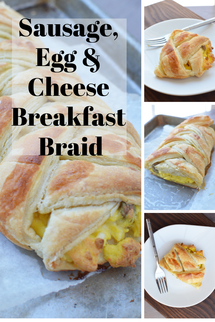 Sausage Egg and Cheese Breakfast Braid