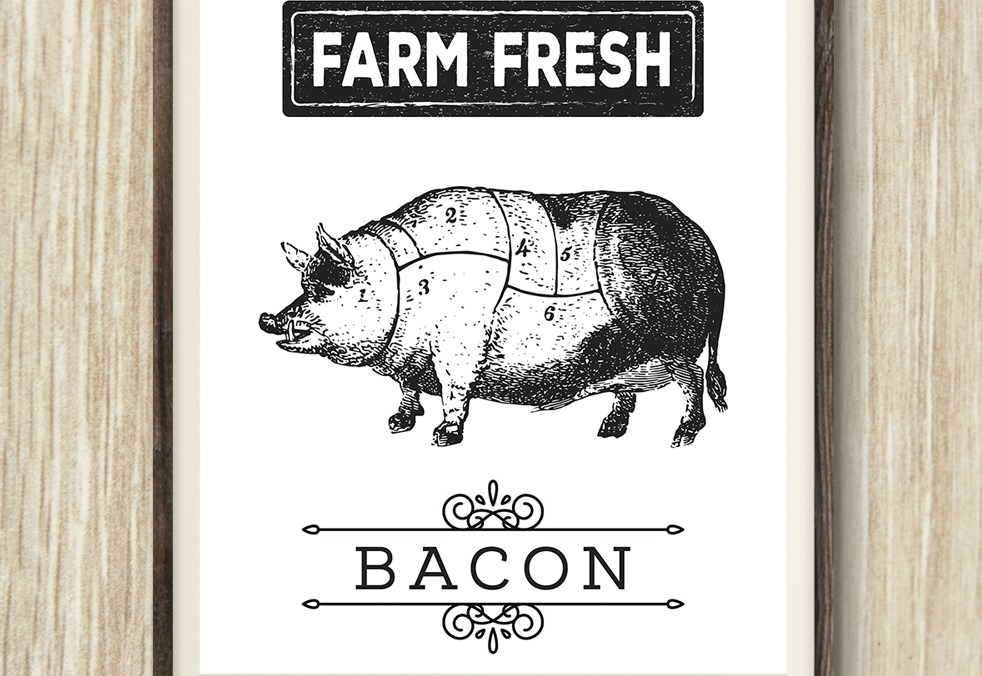 FREE Printable Farmhouse Pig Wall Art