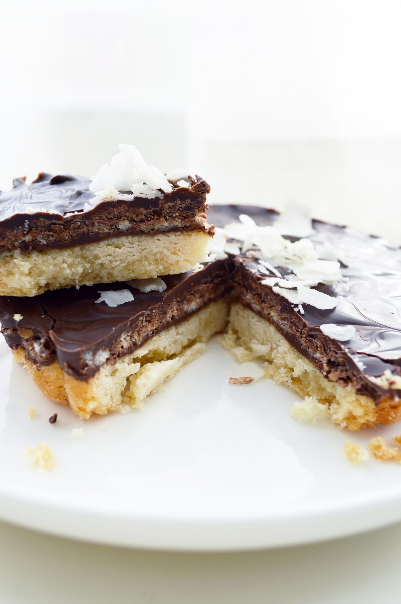 Shortbread and Coconut Chocolate Cookie Pie
