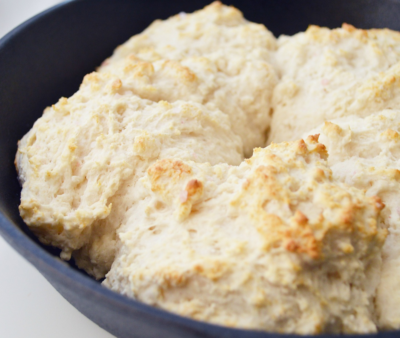 Dairy and Egg Free Southern Skillet Biscuits