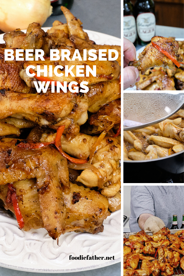 Beer Braised Chicken Wings