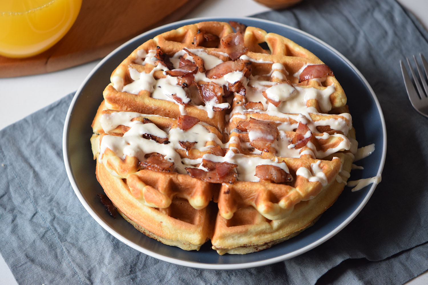 Beer Bacon Waffles Recipe